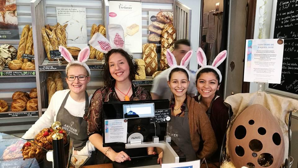 Boulangerie Aux Petites Mains lapines de Pâques 2018