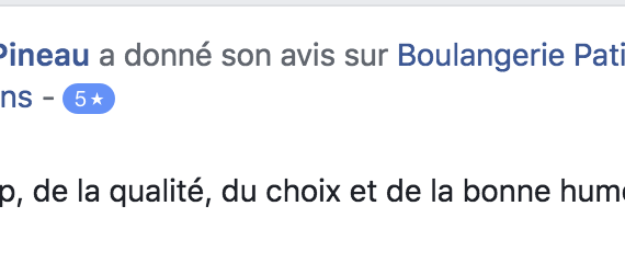 Boulangerie Aux Petites Mains avis FACEBOOK Christine Pineau
