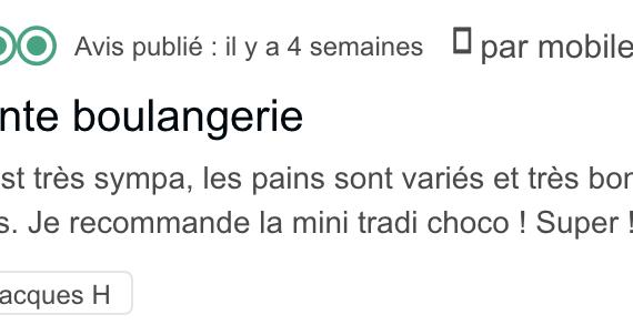 Boulangerie Aux Petites Mains avis TRIPADVISOR Jacques H