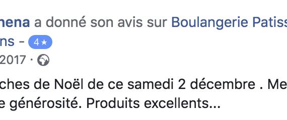 Boulangerie Aux Petites Mains avis FACEBOOK Domye Schena