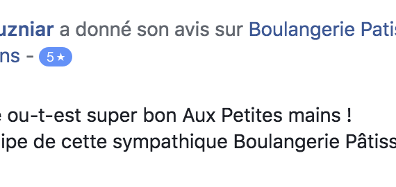Boulangerie Aux Petites Mains avis FACEBOOK Philippe Kuzniar