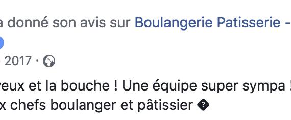 Boulangerie Aux Petites Mains avis FACEBOOK Elo De Lu