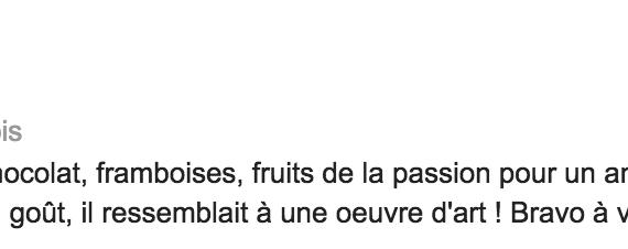 Boulangerie Aux Petites Mains avis GOOGLE Delphine Blanc