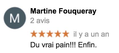 Boulangerie Aux Petites Mains avis GOOGLE Martine Fouqueray