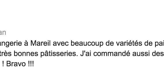 Boulangerie Aux Petites Mains avis GOOGLE Olivier Chappe