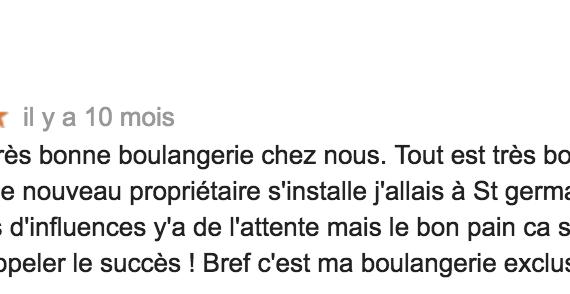 Boulangerie Aux Petites Mains avis GOOGLE JMK