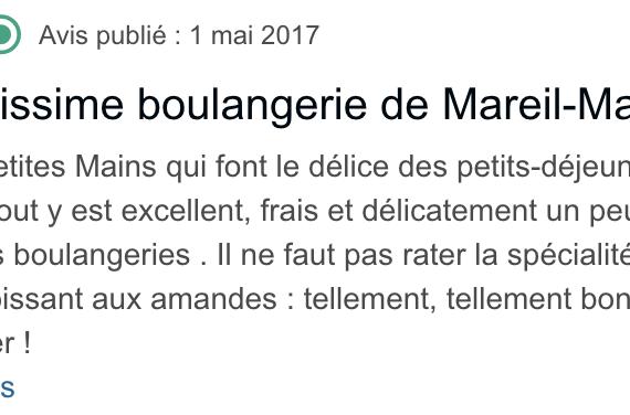 Boulangerie Aux Petites Mains avis TRIPADVISOR Emmanuelle DR