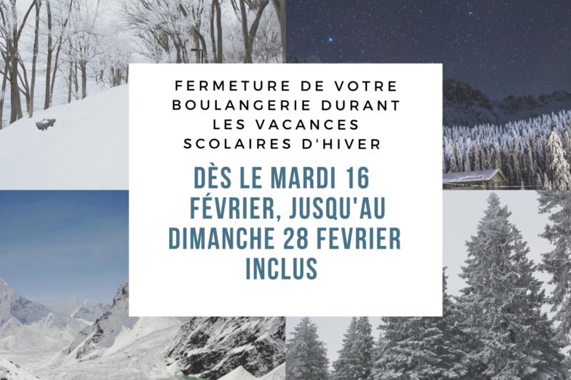 Boulangerie Aux Petites Mains vacances février 2021