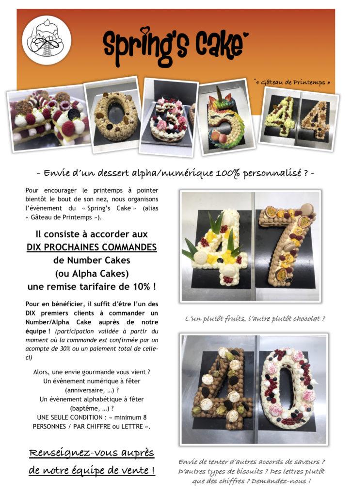 Boulangerie Aux Petites Mains Number Cakes évènement Spring's Cake