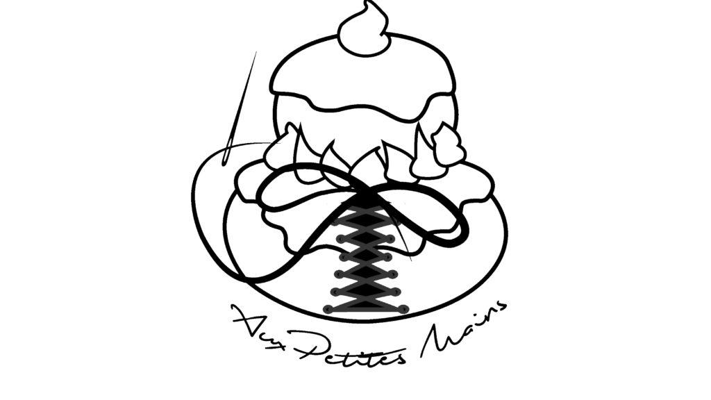 Boulangerie Aux Petites Mains logo blanc liseré noir